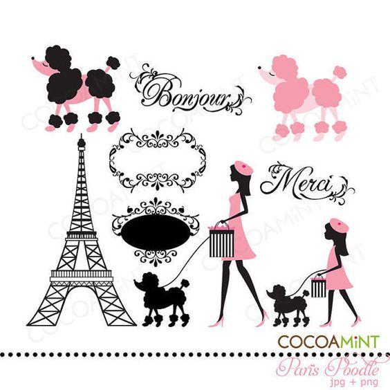 Paris Poodle Clip Art