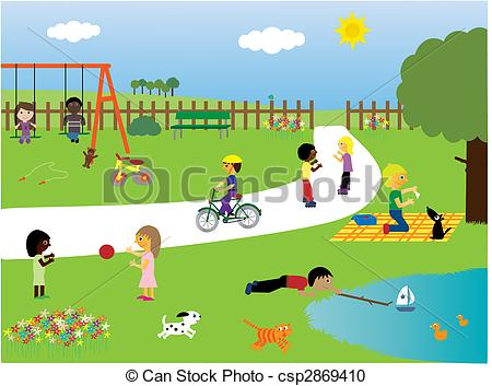 Children playing in the park - csp2869410