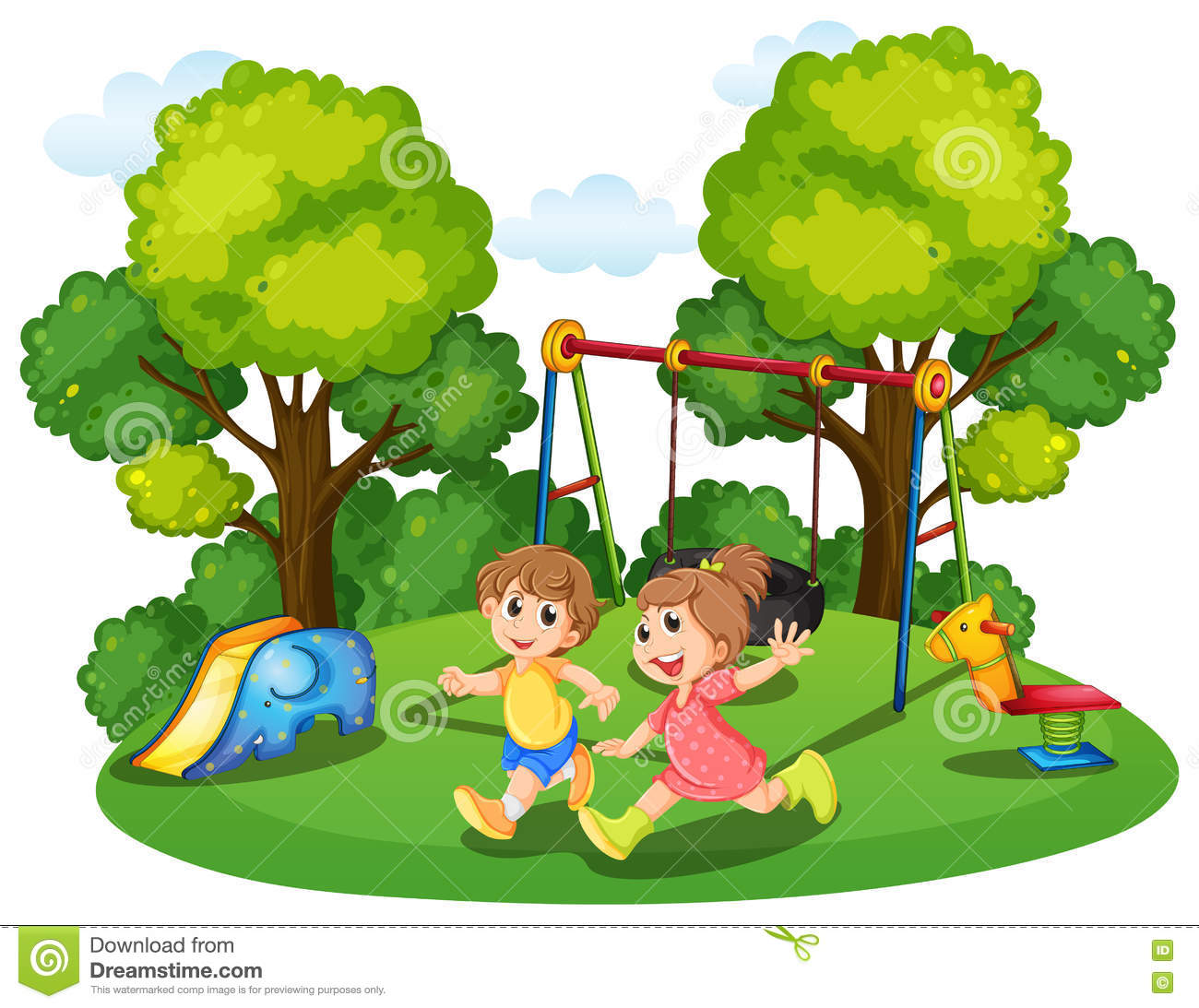 Two Kids Running Park Stock Illustration-Two Kids Running Park Stock Illustrations u2013 16 Two Kids Running Park Stock  Illustrations, Vectors u0026 Clipart - Dreamstime-18