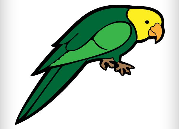 ... Parrot clipart 7 ...