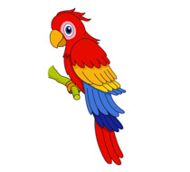 Parrot Green With Red Beak Clipart Size: 80 Kb