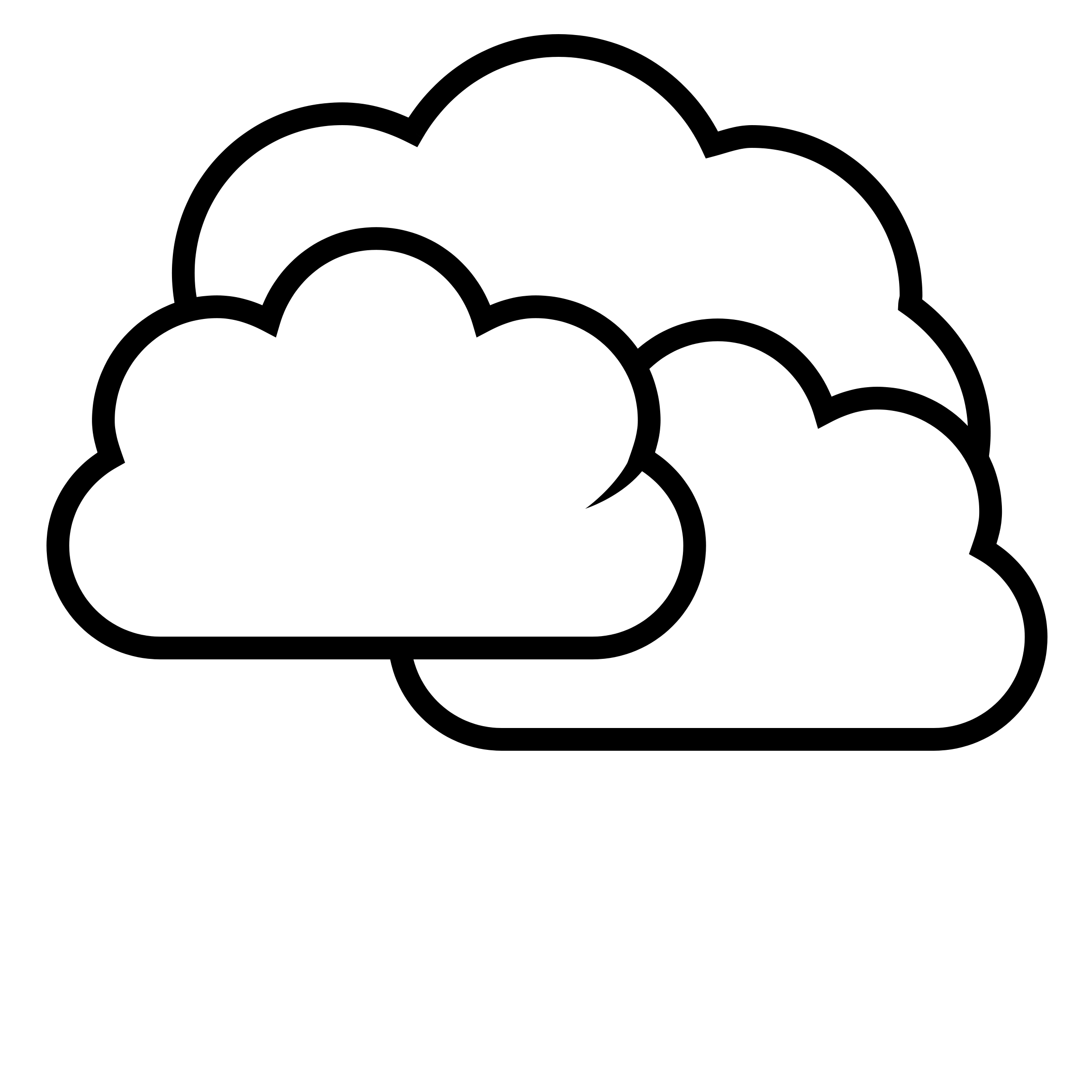 Partly Cloudy Clipart Black And White-partly cloudy clipart black and white-3