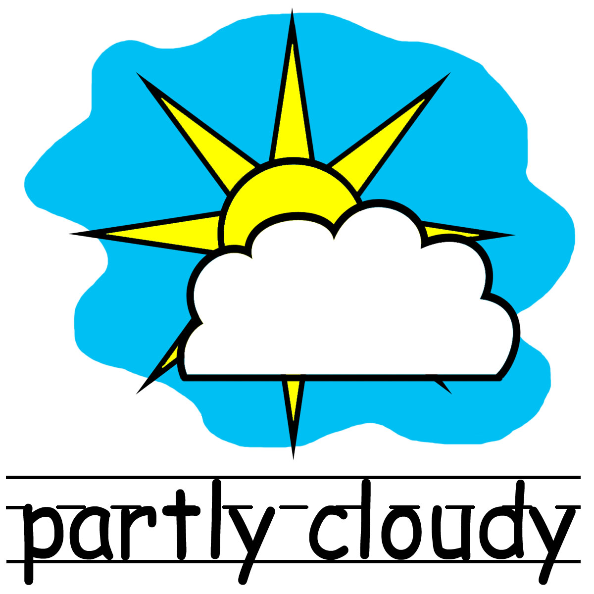 Partly Cloudy Clipart Black And White Cl-Partly Cloudy Clipart Black And White Clipart Panda Free Clipart-18