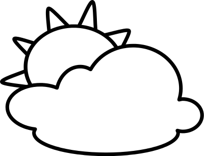 Partly Cloudy Clipart Black And White Cl-Partly Cloudy Clipart Black And White Clipart Panda Free Clipart-13