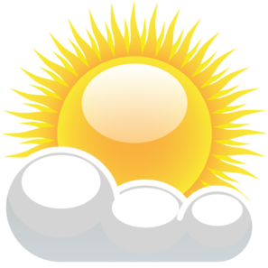 Partly Cloudy With Sunshine Clip Art At Clker Com Vector Clip Art