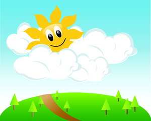 Partly Sunny Clipart Image - Picture Day Clipart