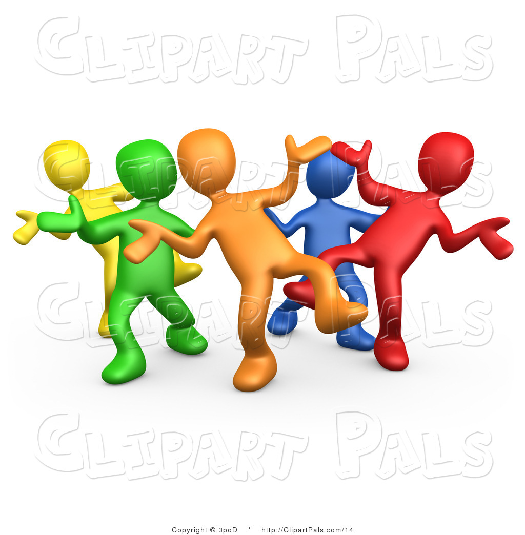 Party People Clipart Free Party Clip Art Pal Clipart Of A 3d Diverse