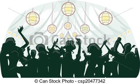 Party Wedding Reception . - Wedding Party Clipart