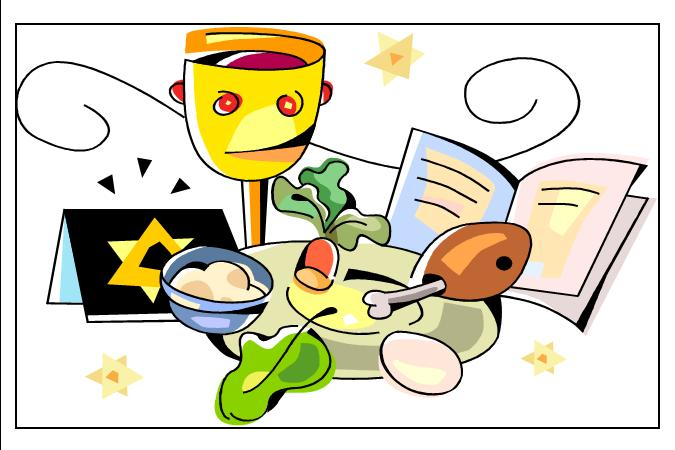 Passover Seder Clipart .