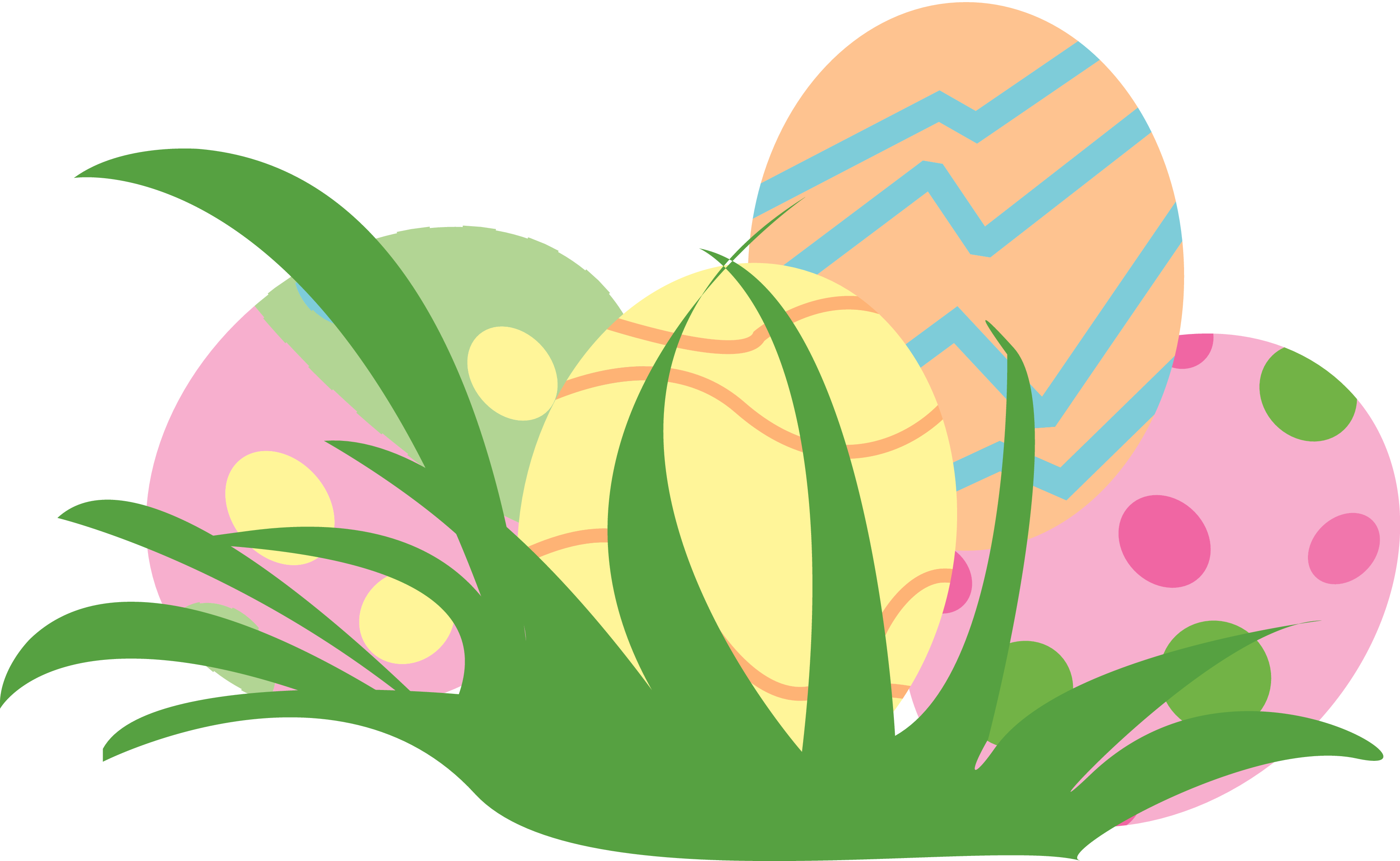 Pastel Easter Egg Clipart .