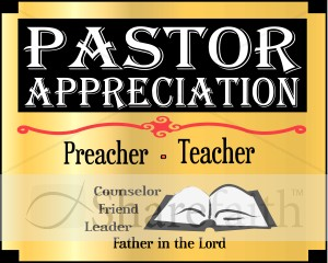 Pastor Appreciation Month Word Art Event Word Art