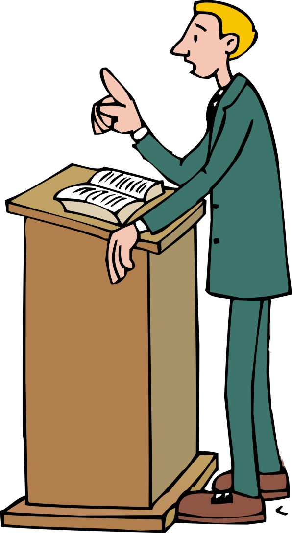 Pastor Clipart Clipart Pastor On Pulpit 2