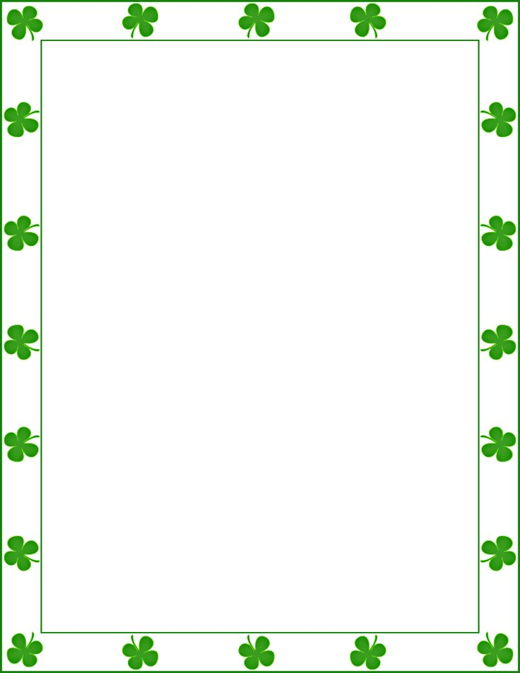patrick , s day frame png