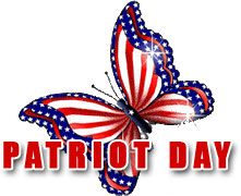 Patriot Day with red, white and blue but-Patriot Day with red, white and blue butterfly-14