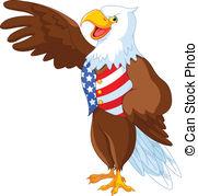 ... Patriotic American Eagle - Patriotic American bald eagle... Patriotic American Eagle Clip Artby ...