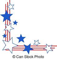 ... Patriotic Border - Patriotic stars and stripes corner.