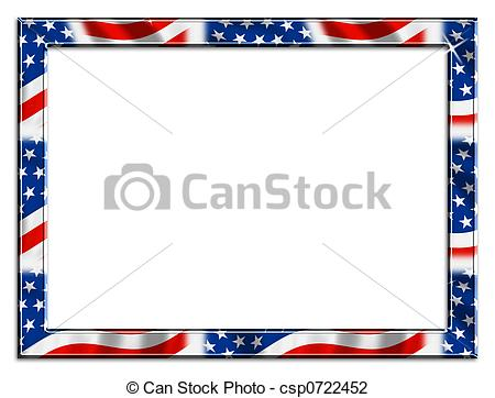 Patriotic Border - red white and blue patriotic beveled... Patriotic Border Clip Artby ...