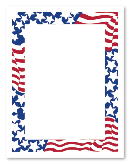 ... patriotic frames clip art ...