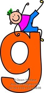 Patriotic Letter G-Clip Art