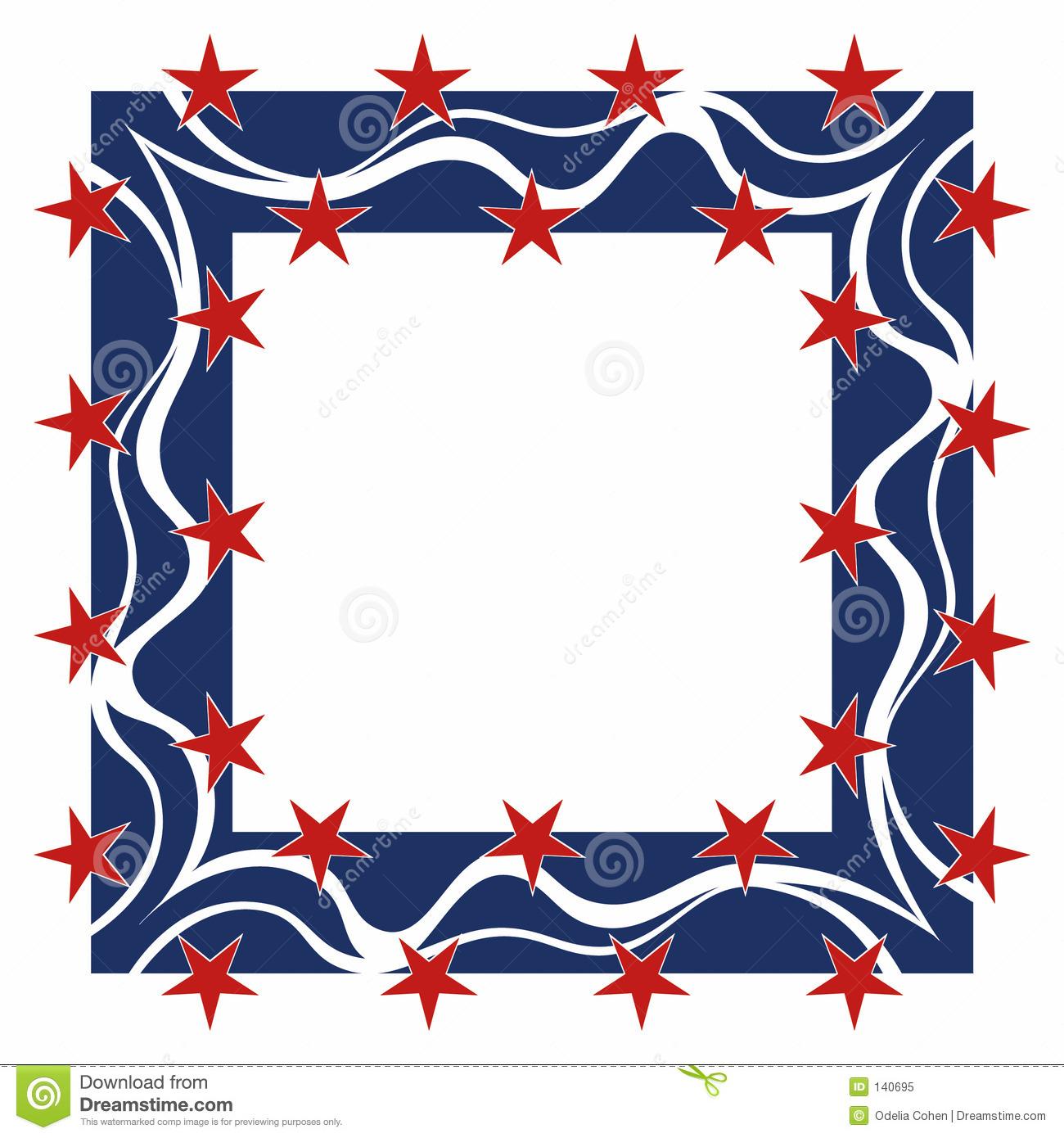 Patriotic Star Border Clip Ar - Free Patriotic Clip Art