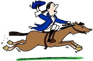 Paul Revereu0026#39;s midnight ride.