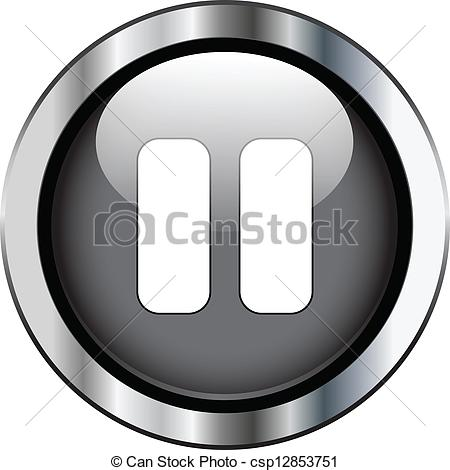 Black pause button - csp12853751-Black pause button - csp12853751-10