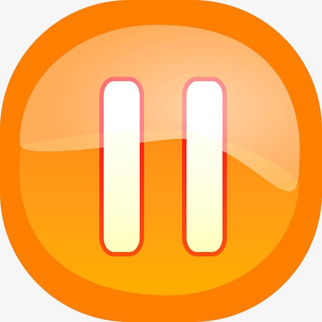 orange pause button, Time Out, Button, S-orange pause button, Time Out, Button, Switch PNG Image and Clipart-8