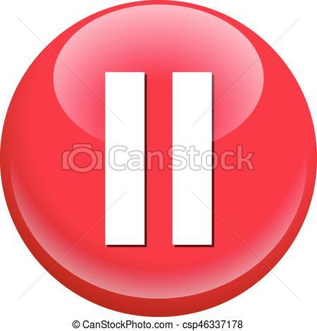 Pause Button - csp46337178-Pause Button - csp46337178-2