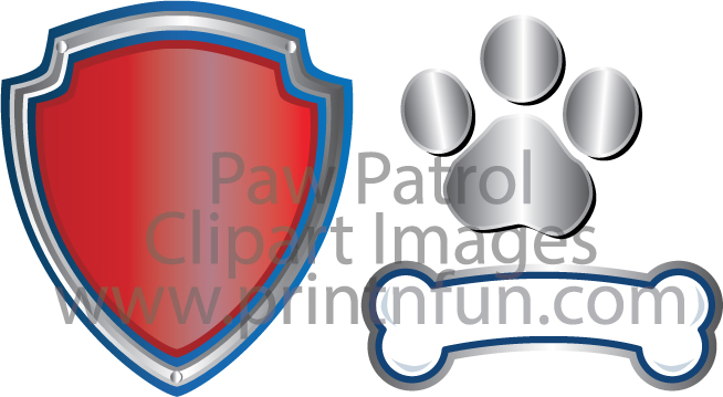 Paw Patrol Digital Paper - Paw Patrol Logo Clipart