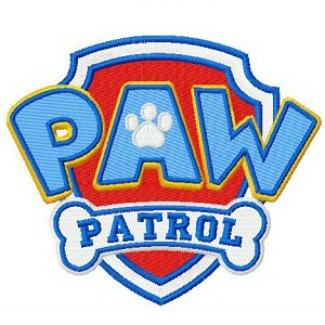 Paw Patrol Logo Iron on Patch