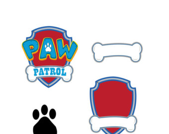 Paw Patrol SVG Vector logo, digital download DxF, SVG, EPS, Svg size  2000x2000 Px