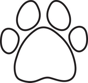 Paw Print Clip Art Free | Coloring Page Clip Art Images Coloring Page Stock Photos u0026amp;