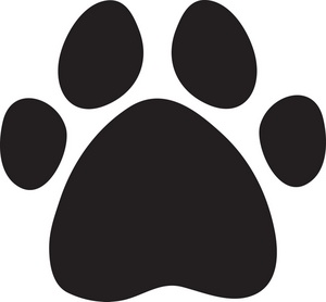 Paw Print Clipart Image: A ..