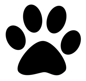 Paw Print Clipart Image .