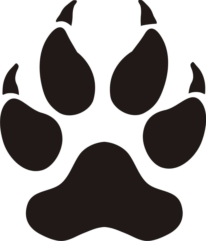 Paw print tattoos on dog paw prints scroll clipart 3 5