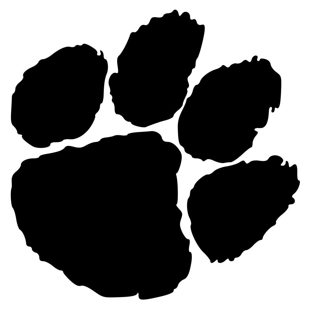 Paw Prints Clipart. Clemson Tiger Paw Logo