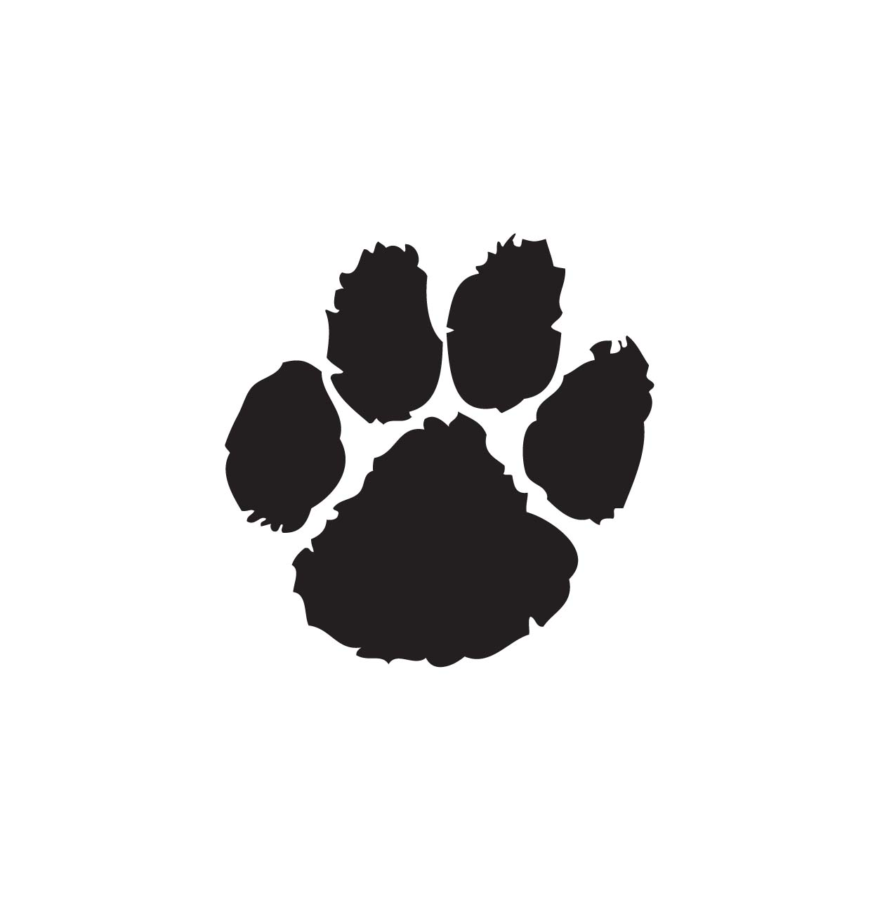 Paws print clipart .