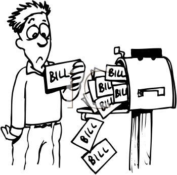 Paying Bills Clipart Bills To .-Paying Bills Clipart Bills To .-7