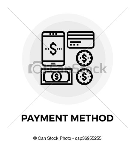 Payment Method Line Icon - csp36955255