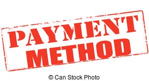 Payment method - Rubber stamp with text payment method.