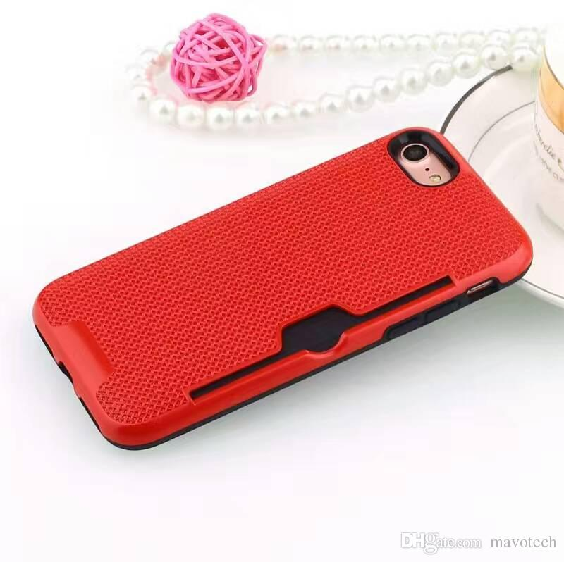 PC plastic net plaid back cell phone mobile case covers for iphone 6/6s/