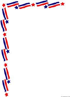 Pdf Format Stars And Stripes Flag Border Paper Sheet 8 5 X 11
