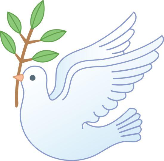 Peace Dove Carrying Olive Branch U0026mi-Peace Dove Carrying Olive Branch u0026middot; Christian Clip ArtClipart ...-17