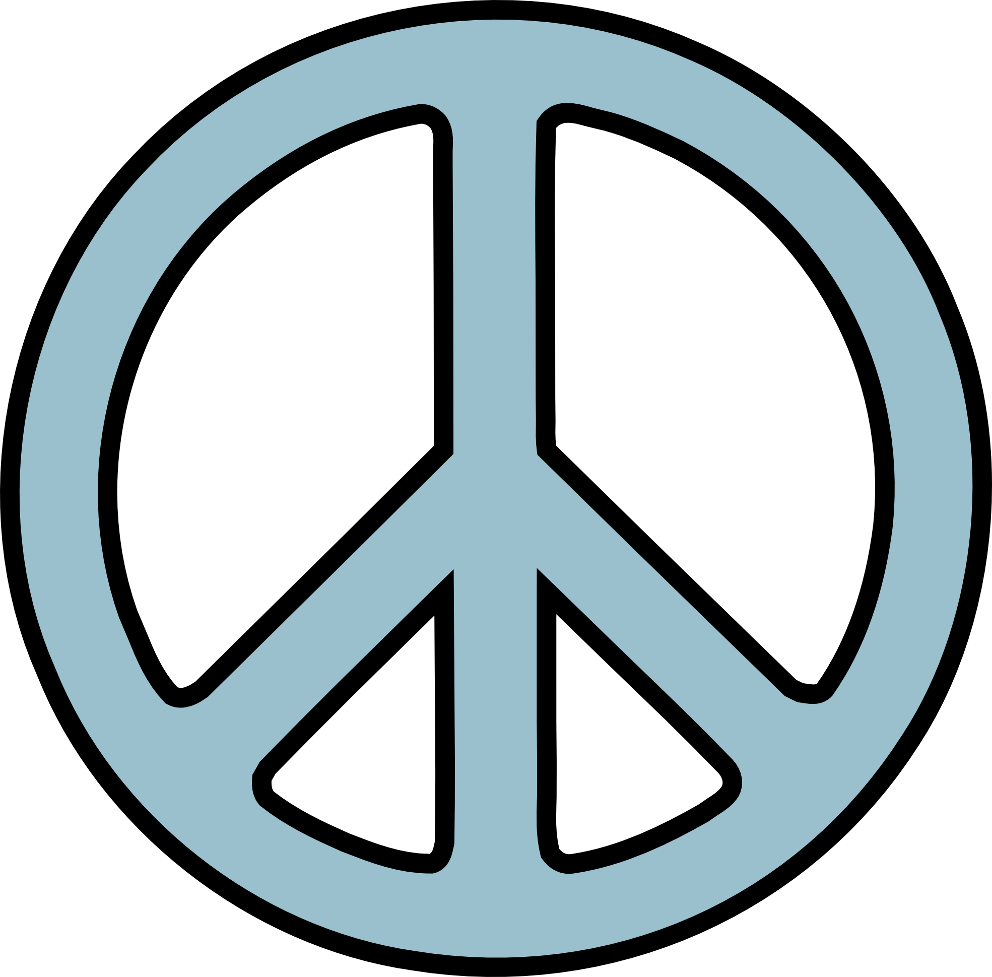 Peace Sign Clip Art Black And - Peace Sign Clipart