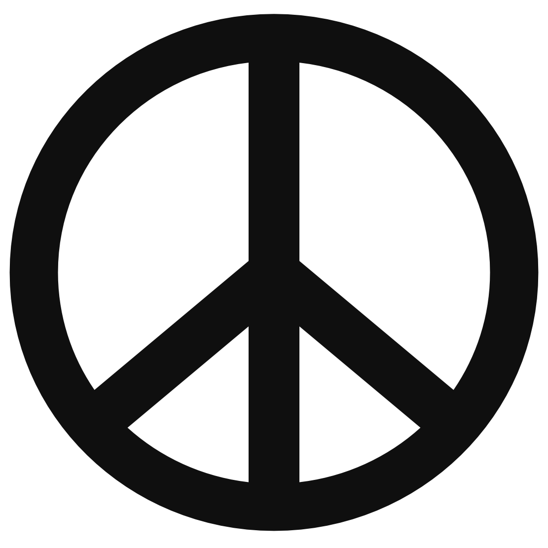 Peace sign templates clipart