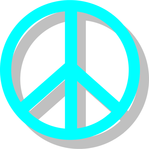 Peace sign vector clip art