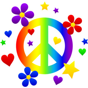 Peace Signs Clip Art. Peace Sign With Flowers Hearts .