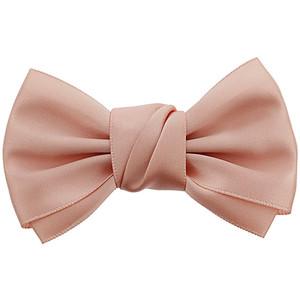 Peach bow clip