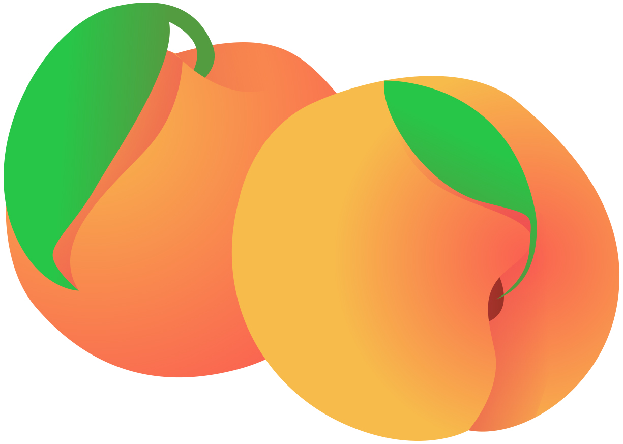 Peach clip art clipart photo