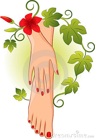 Pedicure Cartoon Clipart - Manicure Clip Art